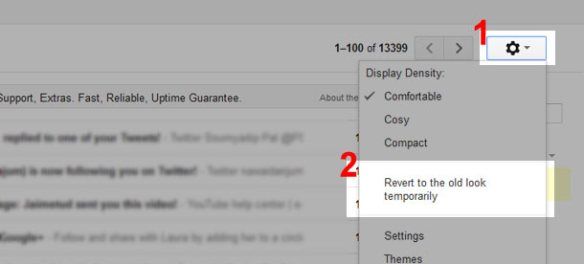 How to get your old look Gmail back
