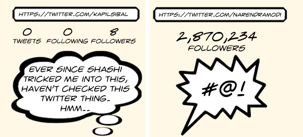 Comic: Kapil Sibal joins Twitter