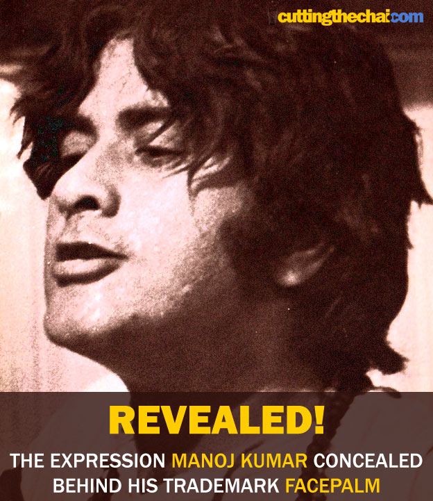Revealed: The expression Manoj Kumar concealed with the facepalm