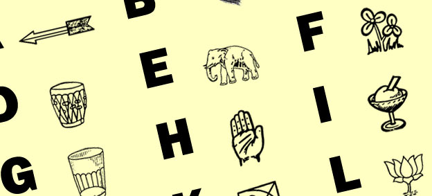 An Alphabet Chart Of Indian Political Party Symbols