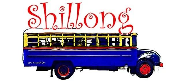 Classic Shillong city bus