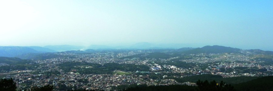 Shillong - as seen from Shillong View Point in Laitkor