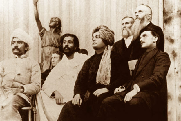 Swami Vivekananda with other delegates at the Parliament of World's Religions, Chicago