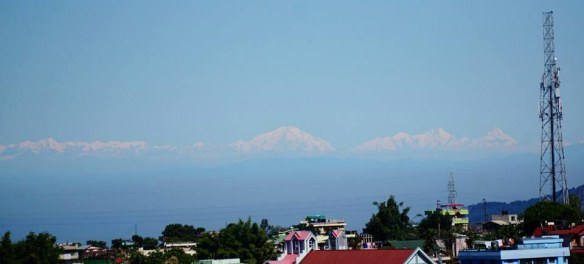 Himalayas, as seen from Lumparing, Shillong