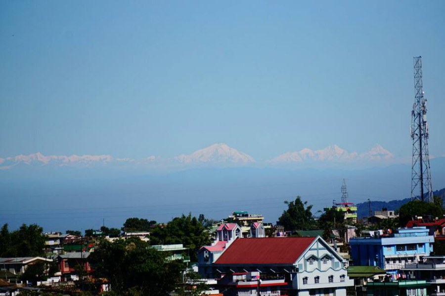 Himalayas, as seen from Lumparing, Shillong