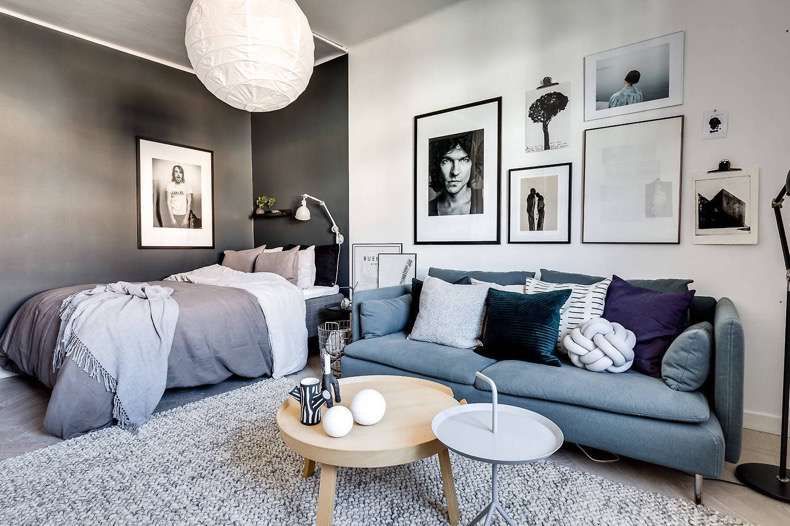 Delimit the spaces in small apartments