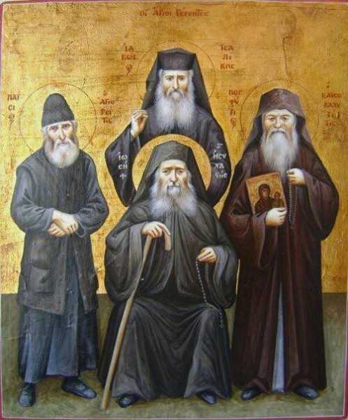 Sfinții Greciei contemporane Paisie Aghioritul, Iosif Isihastul, Iacov Tsalikis, Porfirie
