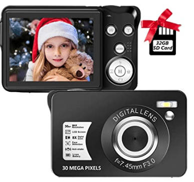 Sereer Digital Pocket Action Camera with 8x zoom