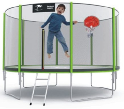 Kangaroo Hoppers 12/14/15 FT Trampoline with Safety Enclosure Net