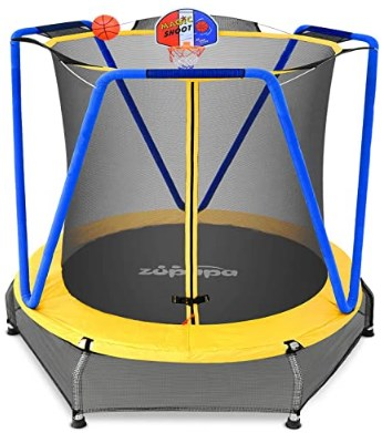 Zupapa Small Trampoline with Basketball Court