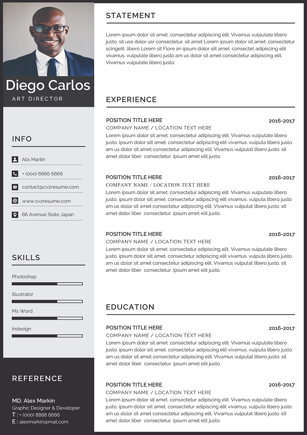 Free minimal cv template in word file format for your job opportunity. Modern Minimalist Resume Template Download Professional Cv In Word
