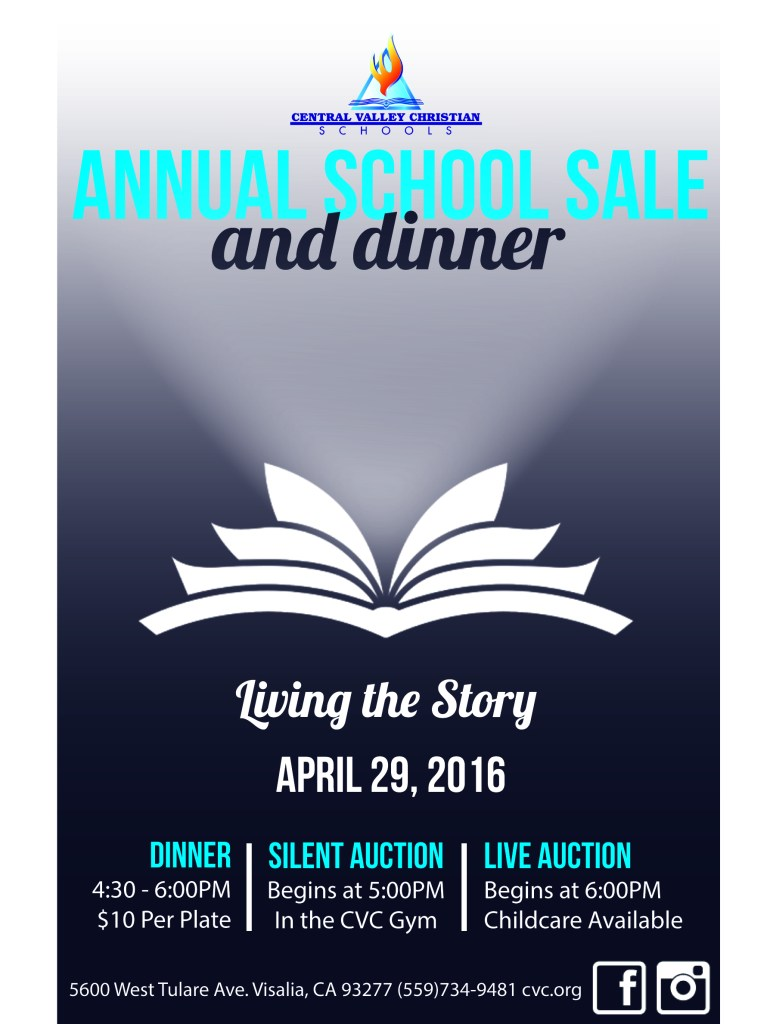 Annual Sale and Dinner at Central Valley Christian School