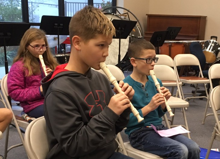 Students Playing Instruments at Central Valley Christian School
