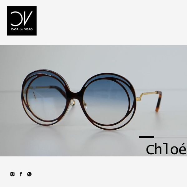chloe Carlina Halo Sunglasses