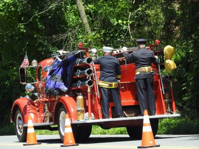 Past Chief Lauber's final ride