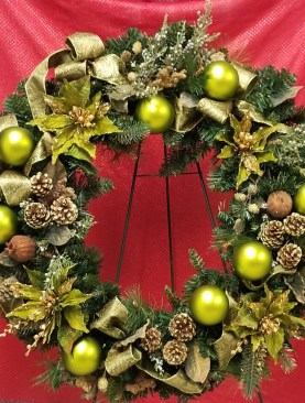 Olive Christmas wreath