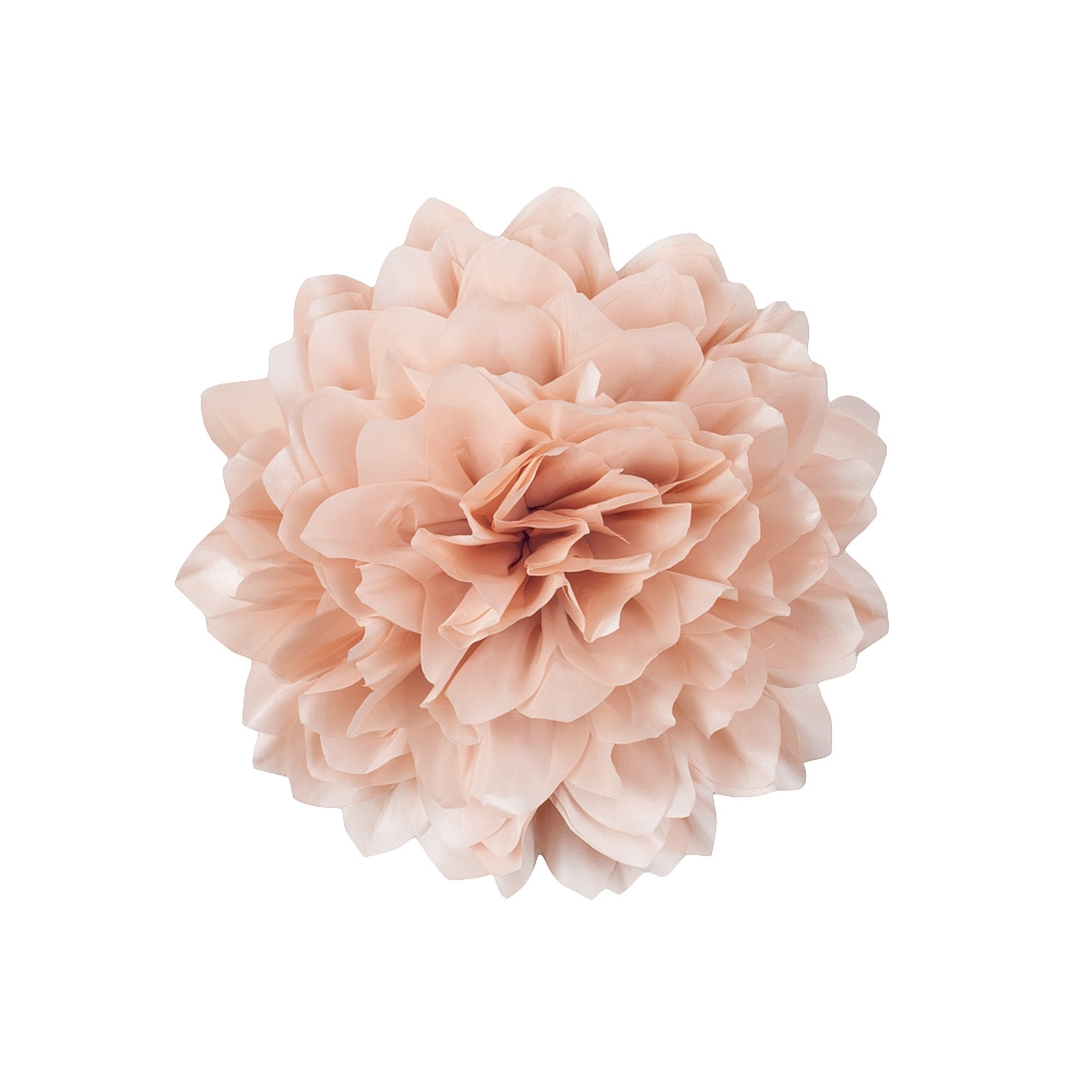 Jumbo Taffeta Fabric Flower   Blush   CV Linens       Jumbo Taffeta Fabric Flower   Blush