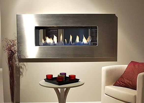 850mm Double Sided Fire Ribbon Gas Fire