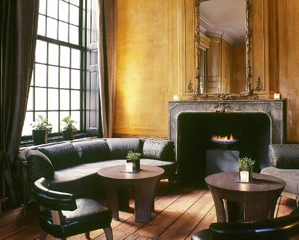 Dylan Hotel, Amsterdam, Holland, Cast Slit Gas Fire Design by CVO Fire UK