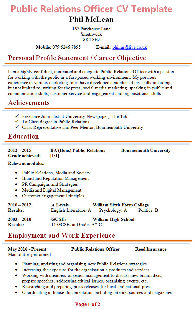 Great Senior Public Relation Manager Resume Tier Brianhenry Co