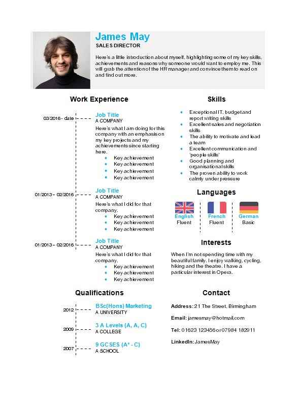 Search sample resumes by your professional industry. Sales Cv Templates Free Sales Cv Examples Download Edit