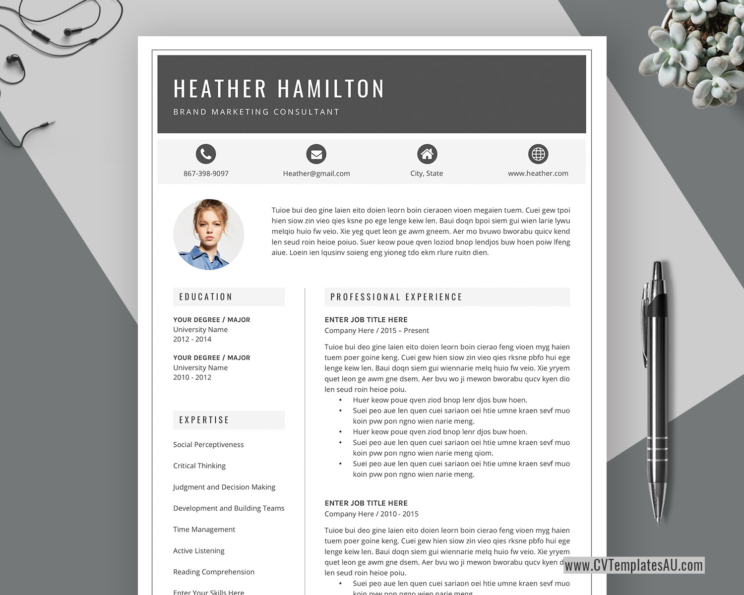 Job resume is a professional modern retro style resume template that will make you stand out from the crowd. Modern Cv Template For Microsoft Word Cover Letter Professional Curriculum Vitae Editable Resume Modern Resume Simple Resume Teacher Resume Instant Download Cvtemplatesau Com