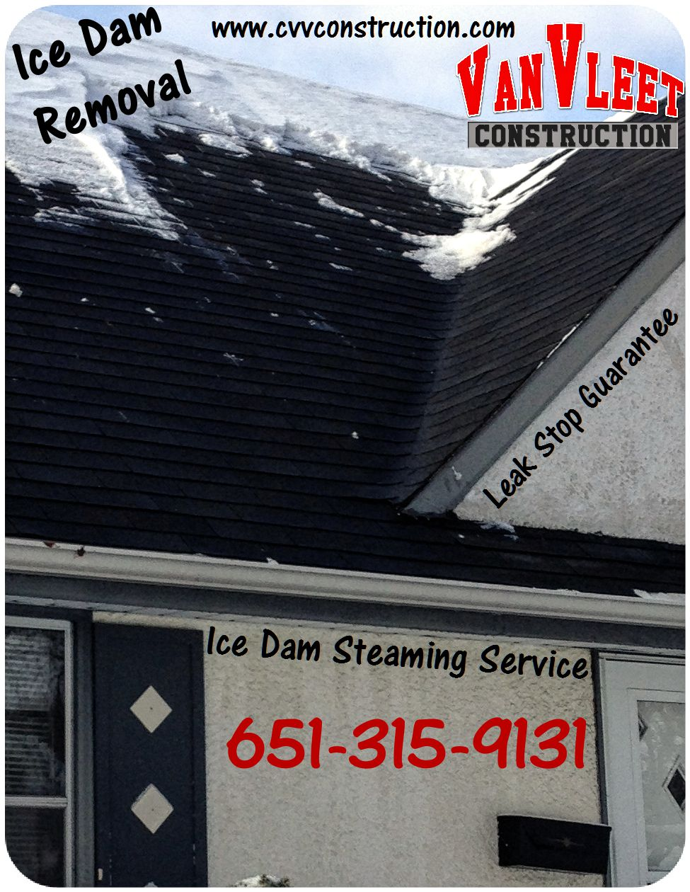 Minneapolis, MN Ice dam removal company photo, MN ice dam steaming services