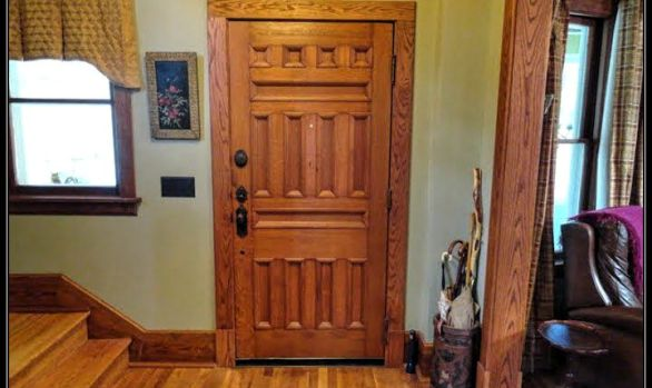 Turn of the century entry door installation and home restoration