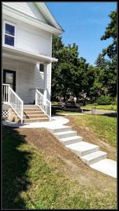 concrete step installation, sidewalk replacement, cement repairs
