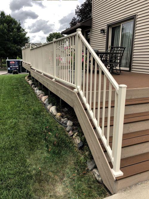 westbury sandy shore deck handrail installation