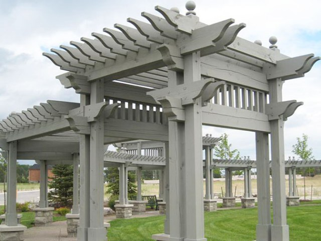 Park pavilion structures by Chris Wallace Architect.
