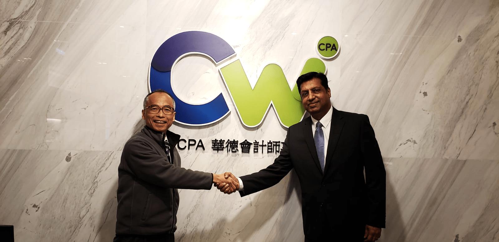 Mr. Thomas Wong with Dr. Ranjit Nair, CEO of Potluck Culture Solutions