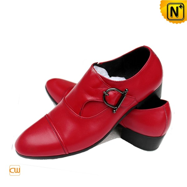 Red Leather Dress Shoes for Men CW762051