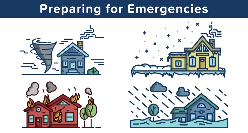 An image showing natural disasters to encourage emergency preparedness