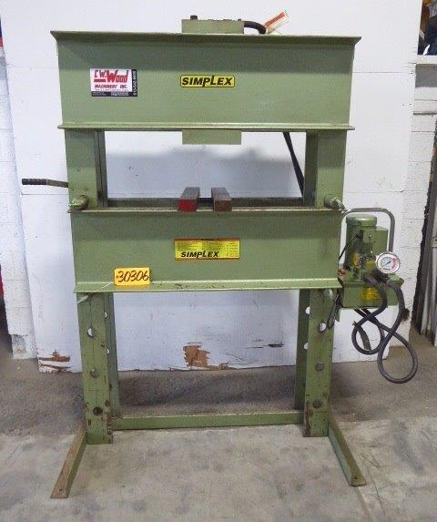 SIMPLEX H-FRAME HYDRAULIC PRESS - 30306