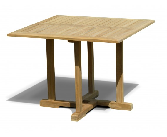 canfield teak square patio dining table 1m