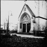 die Türen der katholischen Kirche in Kamen