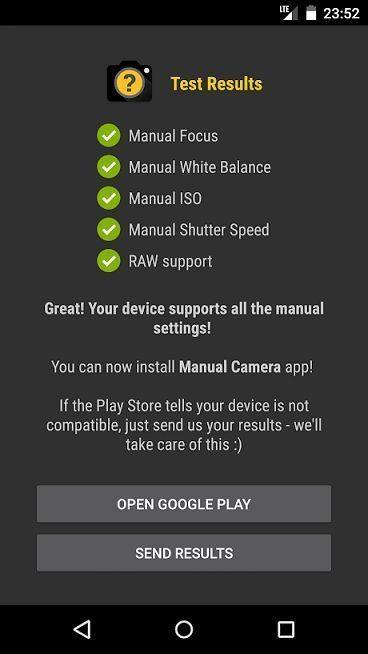 Camera2 API compatibility test PASS