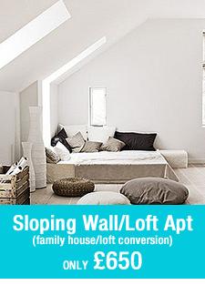 pre-built room set sloping walls loft conversion