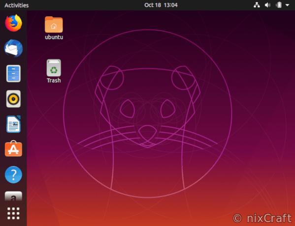 Ubuntu Linux 19.10 desktop