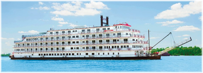American Cruise Lines' paddlewheeler, America (Courtesy American Cruise Lines)