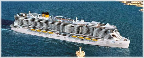 Artist impression of the new dual-fuel LNG ships for Costa Group (Courtesy of Costa Cruises)