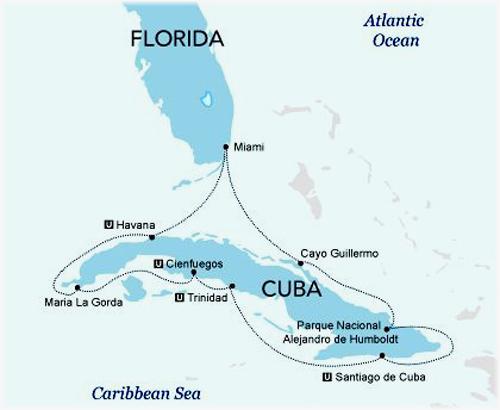 Haimark Line's Saint Laurent Cuba proposed cruise itinerary (Courtesy of Haimark Line)
