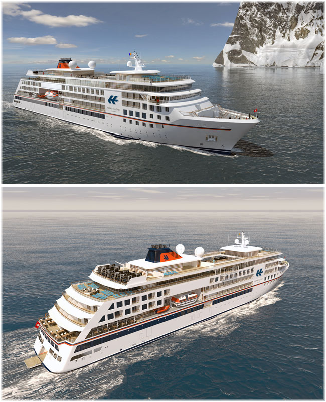 Artist impression of the new Hapag-Lloyd Cruises' expedition ship
