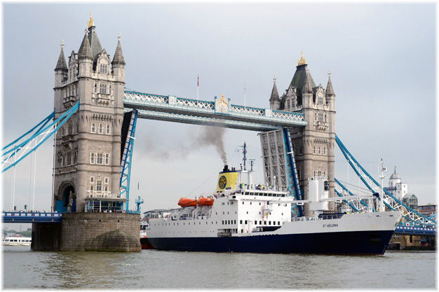 RMS St Helena in London (Photo Peter van den Berg)