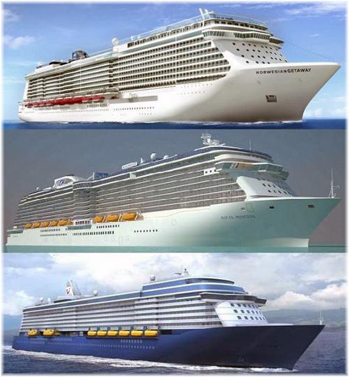 The New Crop of Cruise Ships: Norwegian Breakaway, Royal Princess, Mein Schiff 3