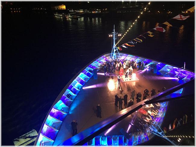 The christening in London of Viking Cruises' second ocean ship, the 930-berth Viking Sea (Courtesy Viking Ocean Cruises)