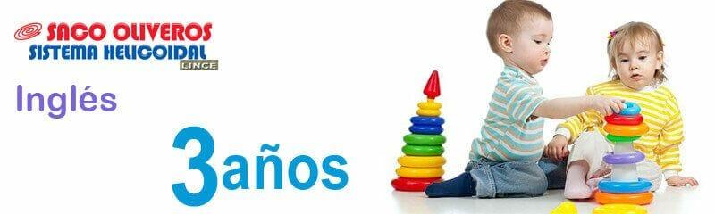 Separatas de Inglés para niños de tres años