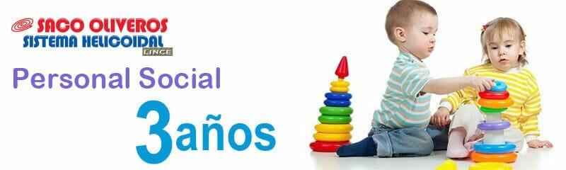Separatas de Personal Social para niños de tres años