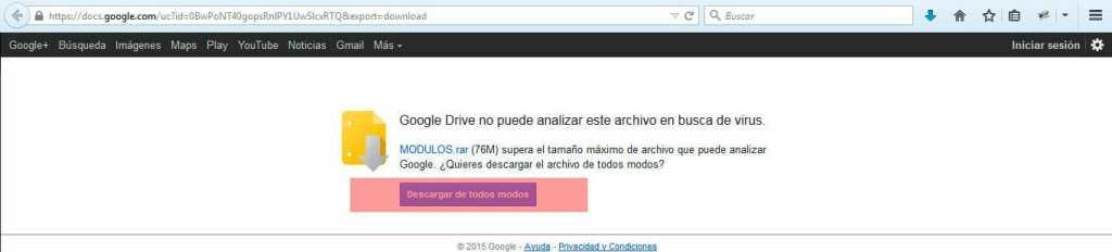Descarga desde Google Drive